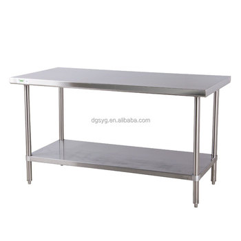 Gauge All Stainless Steel Commercial Work Table X With - 16 gauge stainless steel work table