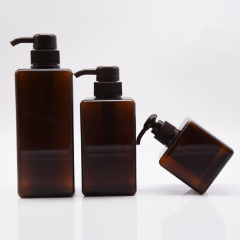 2017 hot product plastic packaging 50ml dark brown amber PET bottle with cap/spray/ pump