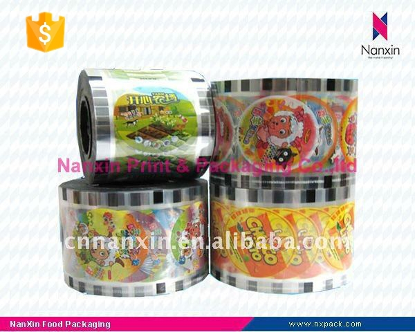 cartoon cup sealing film roll