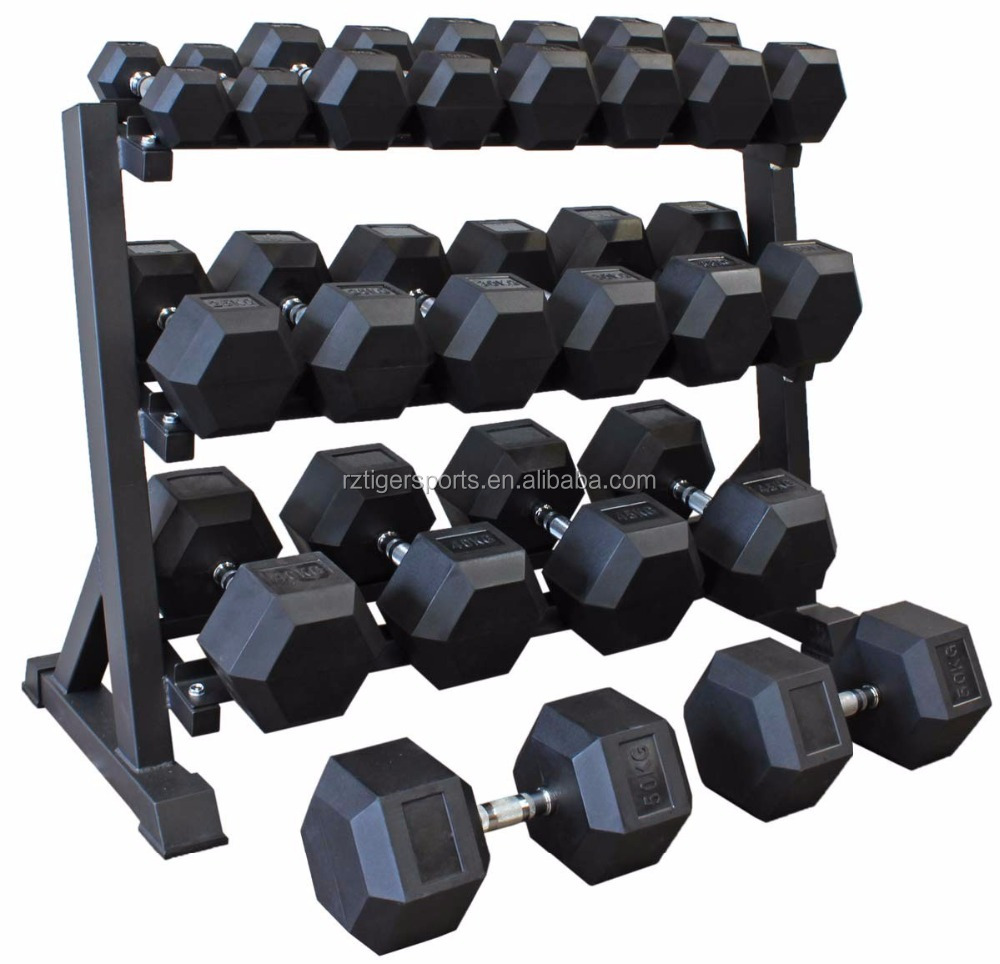 Manufacturer wholesale comercial gym crossfit rubber hex dumbbell