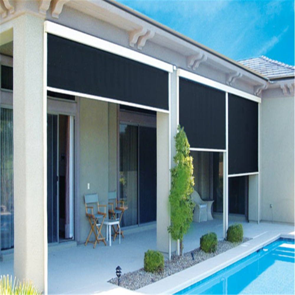 Full Sunshine Shade Blackout Outdoor Roller Blinds Buy