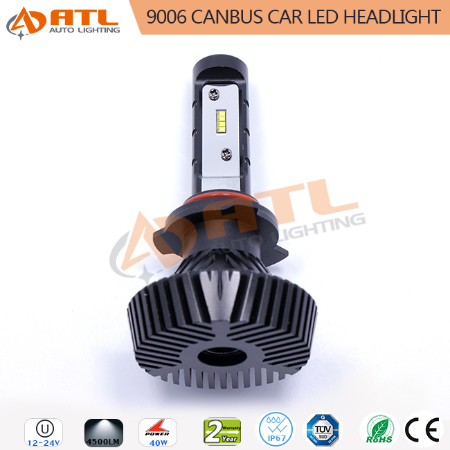 ATL new coming 12~24v no EMC interfernce 9006 80w 8000lm canbus car led kits