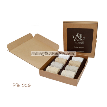stone merchandising paper display box/quartz stone display box PB016