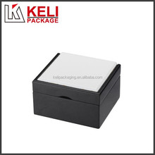 Black- White MDF wooden jewelry packaging box