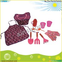 Garden Tool Set with tote bag apron hand tool sets children girl
