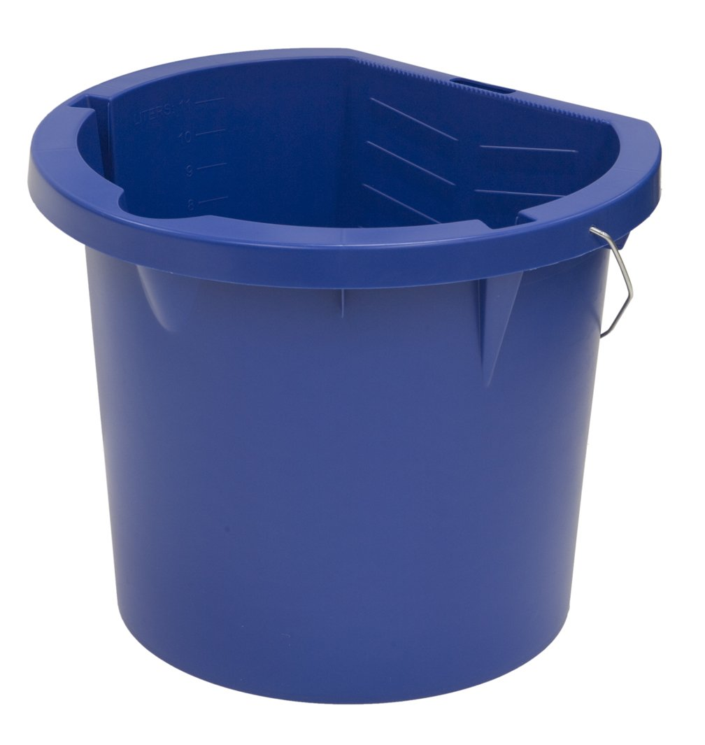 United Solutions PN0003 Pack of Six Three Gallon Blue Plastic Pail - 3 Gallon Plastic Paint Bucket in Blue 6 pack
