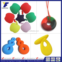 Silicone Bead Pendant,Colorful Silicone Bead Necklace