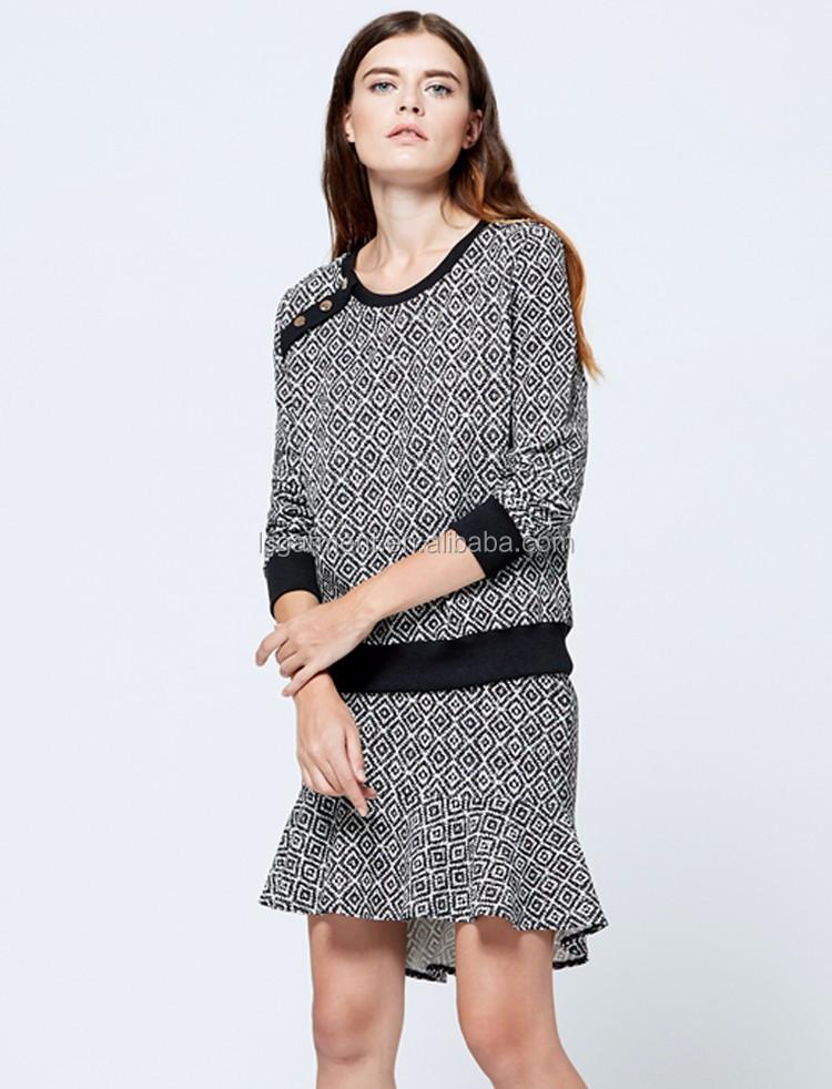 Fashion Women Casual Design Long Sleeve Images Ruffle Latest ...