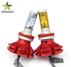 9006 9005 X3 Three Colors Fanless 50w H11 Led Head Bulb H13 Led Headlight