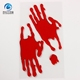 Promotion halloween scary blood hand window decoration gel cling sticker