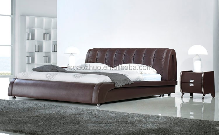 Precio Bajo De La Fábrica Cama Muebles Tapizados Cama Con Suave ...
