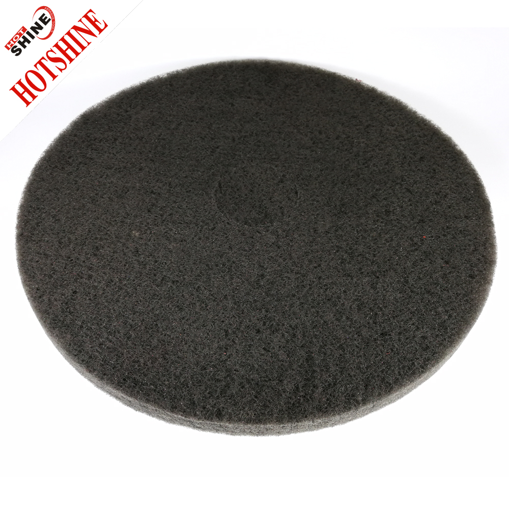 "Hotshine 17"" Nylon Fiber Floor Cleaning Pad"