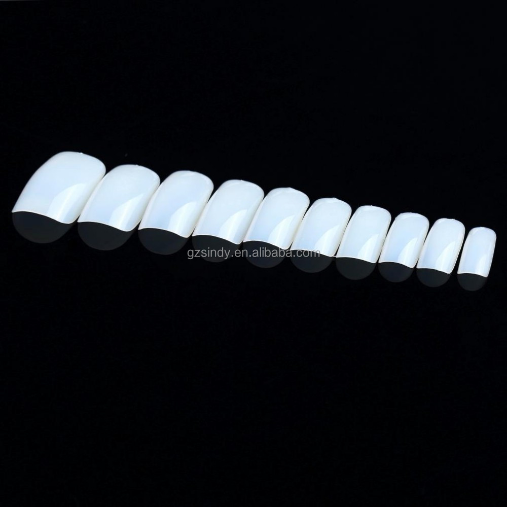 500 Nail Tips French Acrylic Artificial Full False Nail Art Tips NATURAL WHITE CLEAR hot selling