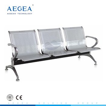 AG-TWC001 CE ISO three seats stainless steel frame public hospital medical waiting room chair used