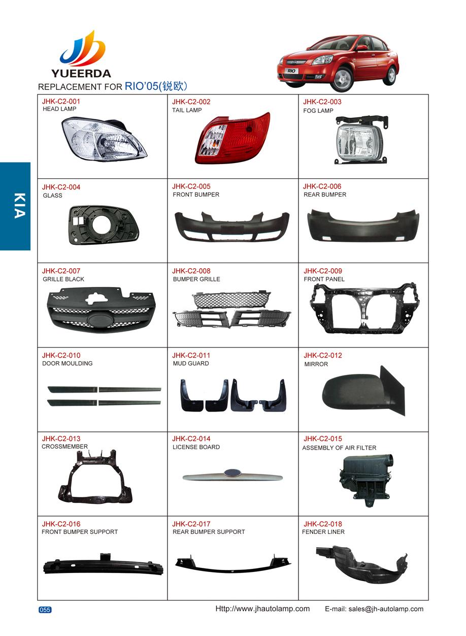 Changzhou Juhao /yueerda Catalog Auto Parts Ka Rio 2005-2010 Used ...