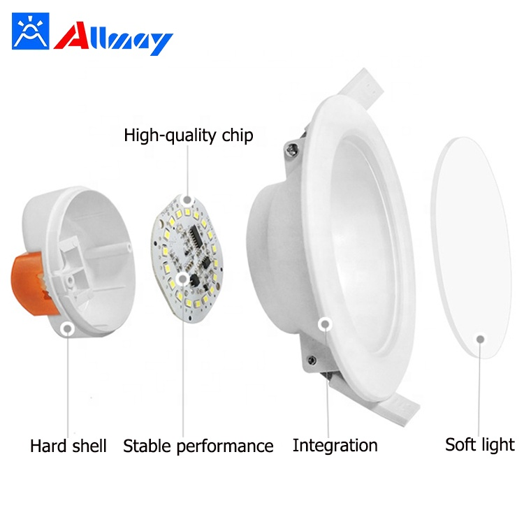 5Inch 6inch 10W Auto-dimming Recessed LED Downlight W/Microwave Sensor for hotel project corridor hallway elevator