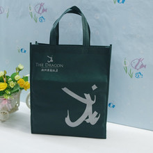 Non woven shopping bag with wooden handle