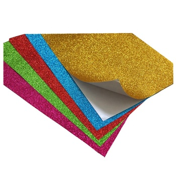 A4 size self adhesive glitter paper