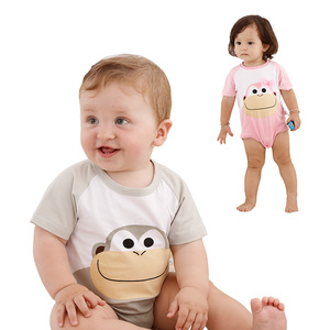 China newborn baby cotton clothes in stock brand baby rompers