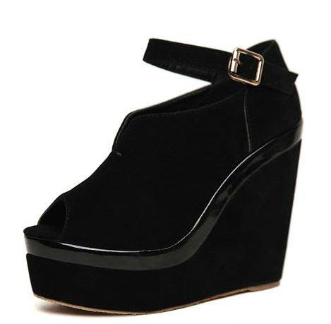 design womens winter bottom shoes black heels LM82 PU sole S5XFxZqHZw