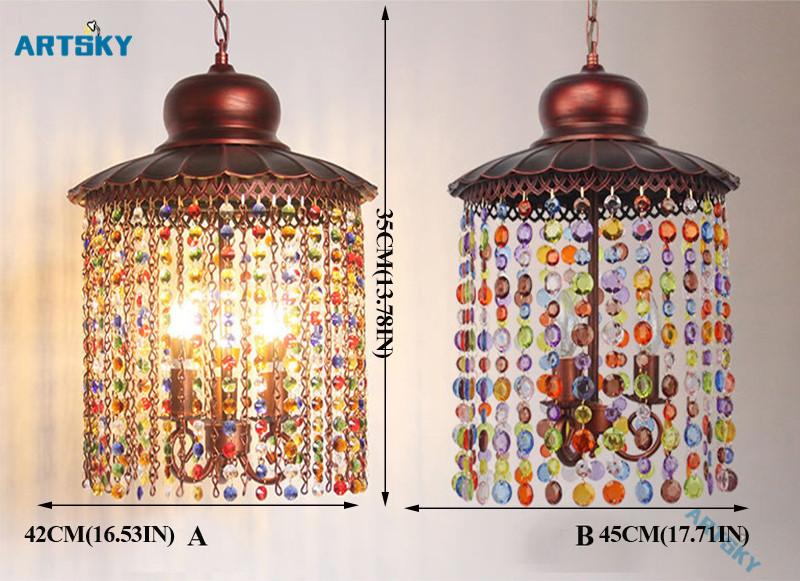 Bohemia Crystal Pendant L&s Lighting Southeast Asia Color Crystal Chandelier for Bedroom Bar L& Hallway Aisle Lights - us453 & Bohemia Crystal Pendant Lamps Lighting Southeast Asia Color Crystal ...