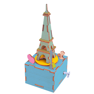 Spinning Tower Music Box Wooden Educational Toys for Kids