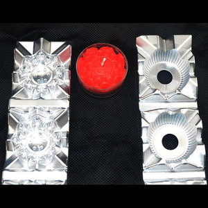 metal aluminium flower floating candle moulds mold for sale