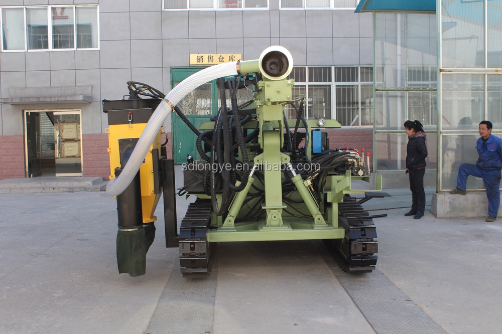 hydraulic mining drilling rig with dust collector