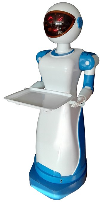 Humanoid Service Deliver Meals Restaurant Intelligent Robot