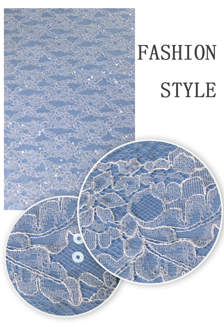 Mesh soft custom pattern french tissue lace fabric