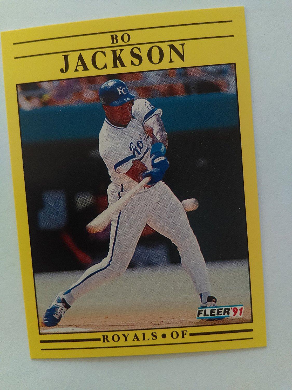 Bo Jackson Baseball Card Kansas City Royals 1991 Foot