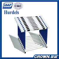high quality for IAAF cetification competition or training athletics hurdle