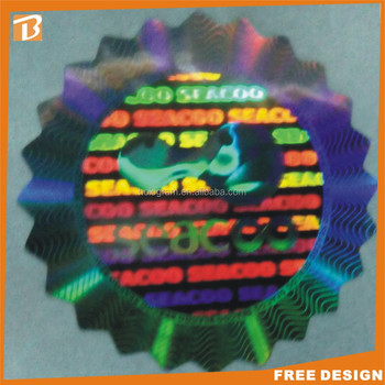 colorful adhesive 3d hologram sticker maker
