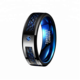 Wholesale Blue And Black Dragon Wedding Rings For Men Jewelry Tungsten Ring