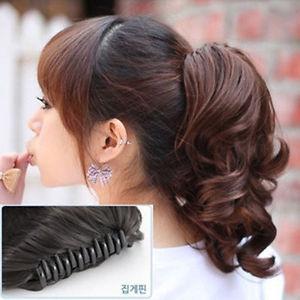 Женская парики короткие волнистые парик коготь волос хвост клип на наращивание волос