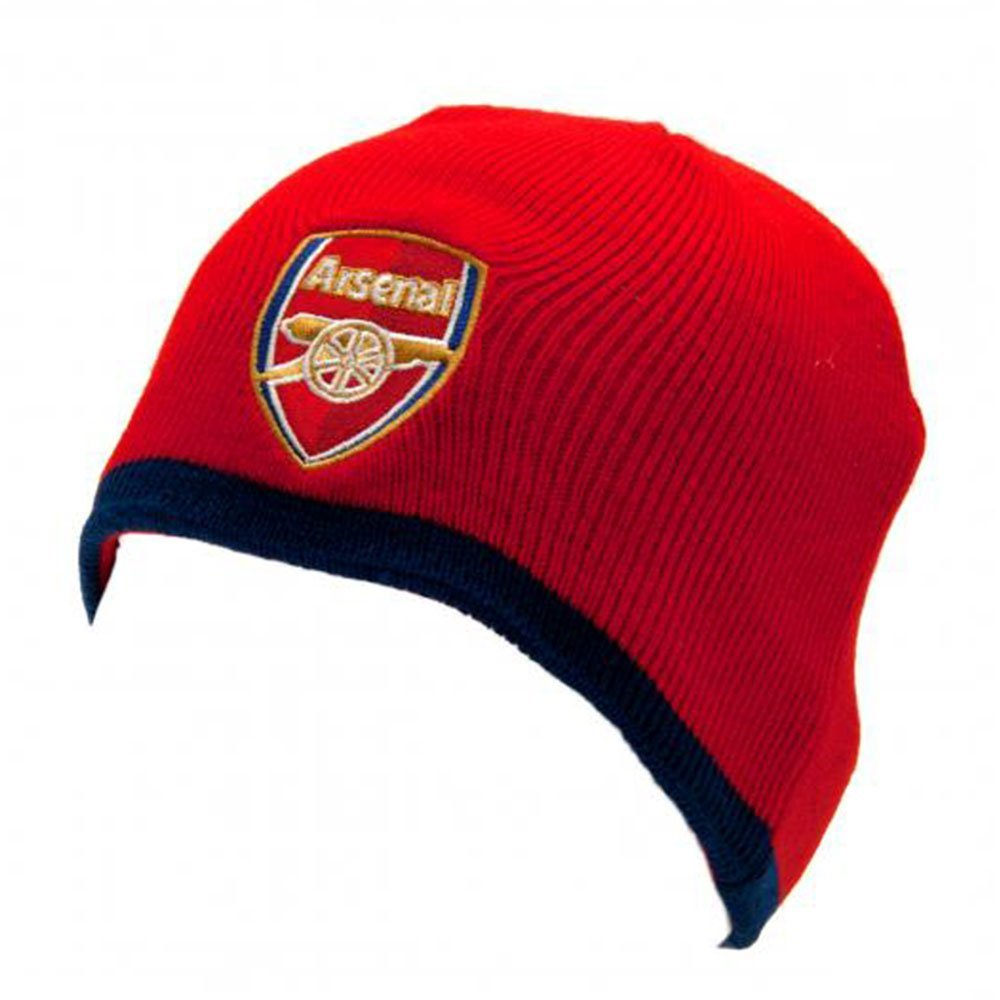 95f63070981 Get Quotations · Arsenal FC Junior Knitted Hat (Red)