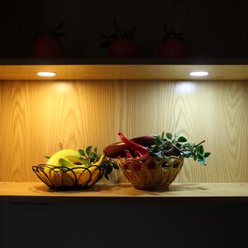 Under cabinet puck light round kitchen light recessed led light with under cabinet puck light round kitchen light recessed led light with motion sensor aloadofball Choice Image