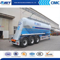 CIMC Aluminum Alloy Vertical Powder Tank Semi Trailer/powder tank trailer/bulk cement tank trailer