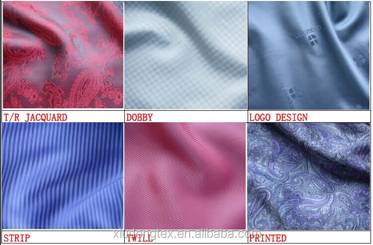 Cheap 100 Polyester Jacquard Lining Fabric Different