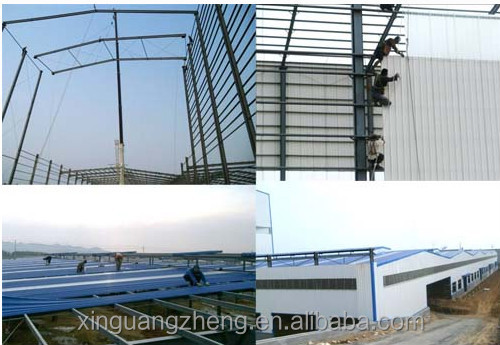 Workshop building steel structure and sandwich panel