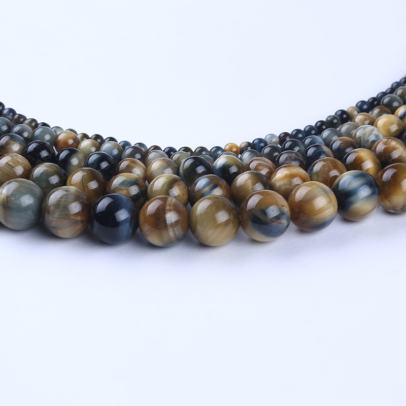 natural Grey yellow tiger eye round beads wholesale