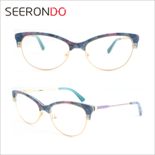 SEERONDO Upper Acetate Below Metal Spectacles Unisex Popular Best Selling Acetate Frames Optical