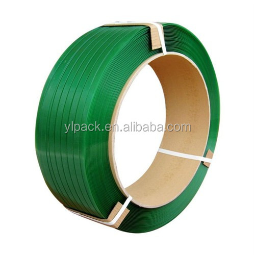 Green PET packing belt plastic bundle strapping roll
