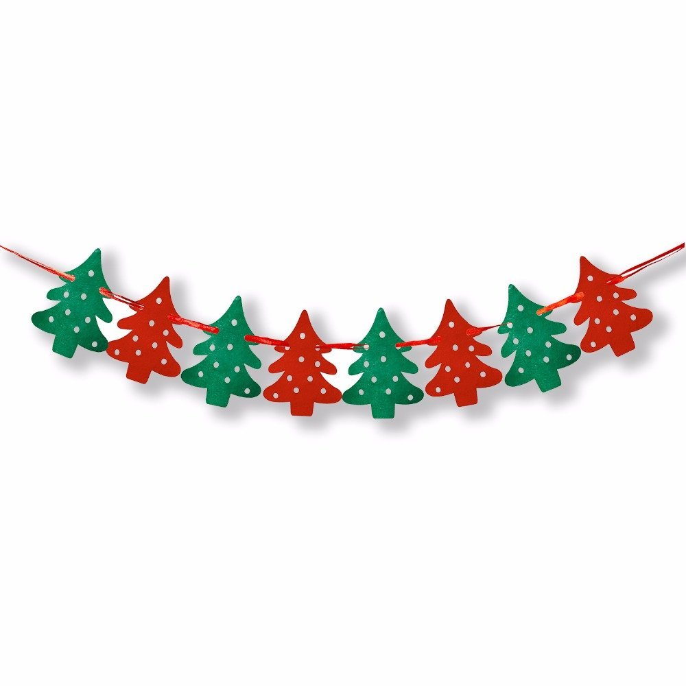 pygantm clear christmas decorated mini tree flags merry christmas banner christmas banners hanging - Decorative Christmas Flags