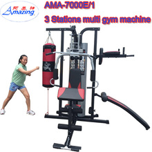 3 people stand gym home equipment 3 station multi gym Bodystrong Fitness/ Multi Station Indoor Exercise Equipment Fitness Gym