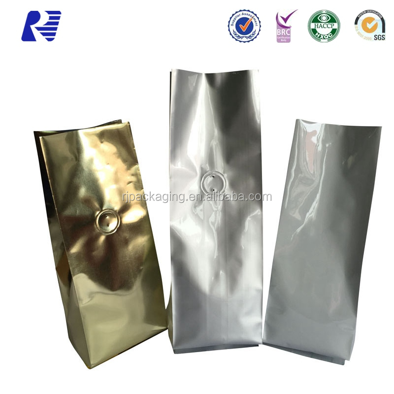 Factory price coffee side gusset aluminum foil tea bags with competitive price