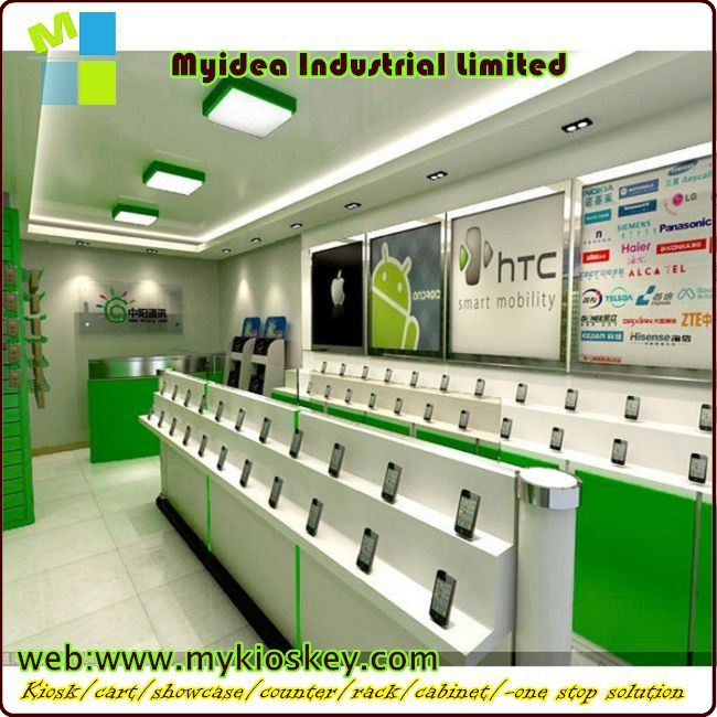 Top End Wooden And Glass Mobile Shop Interior Design Mobile Phone