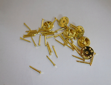 Gold Locking Flathead Lapel Pin Back Clasp Clutch Wholesale
