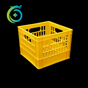 Large industrial stackable vented plastic crate