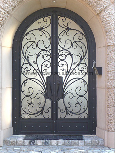 Top Selling Wrought Iron Double Entry Doors Sg 15d031